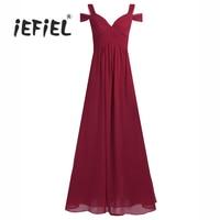 IEFiEL Formal Women Vestidos Kleid für Frauen Damen Chiffon-Die Split Langes Kleid Abend Party Abendkleid Kleid