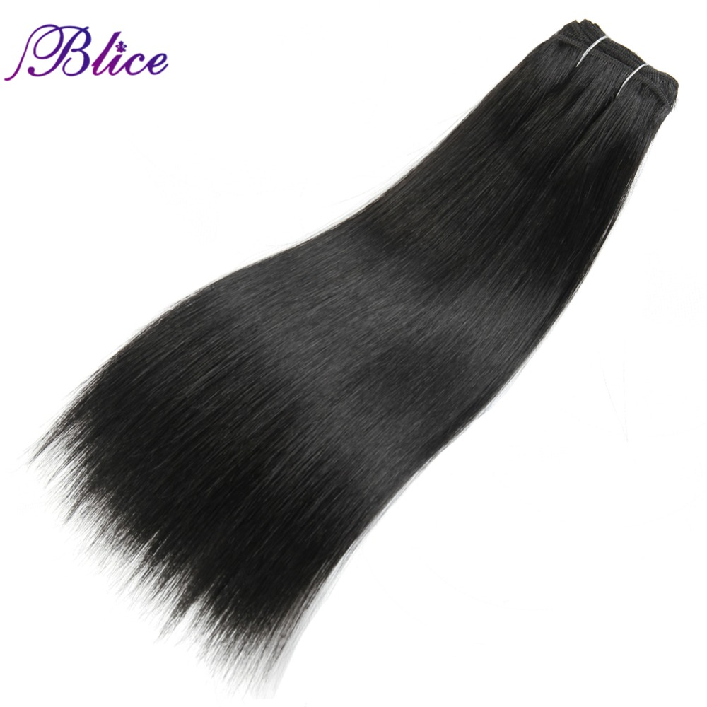 Blice Synthetic Yaki Straight Weaving 100% Kanekalon Futura fiber 8-26 Inch Hair Extension Pure Color One piece Hair Bundles