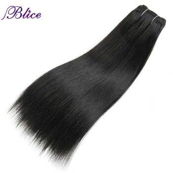 Blice Synthetic Yaki Straight Weaving 100% Kanekalon Futura fiber 8-26 Inch Hair Extension Pure Color One piece Hair Bundles