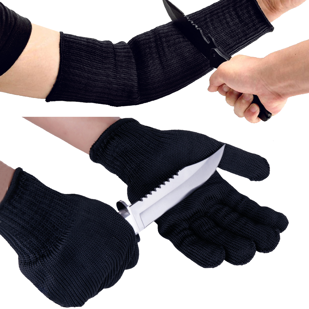 Working Gloves Anti Cutting Arm Cuff Security Bodyguard Military Supply Bracer Arm Armor Cuff Safety Arm Guard Protect Gloves
