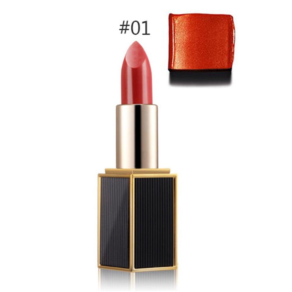 7 Colors to Choose Glossy Lip Rouge matte lipstick Fashion Women Makeup Waterproof Cosmetics Lips Ryukin Gold lipstick