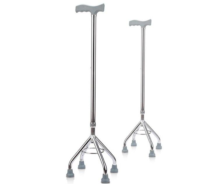 Safety non slip Crutch Four feet walking stick Old Man walking aid Scalable Regulation Aluminum Alloy Light Walker Elderly Cane