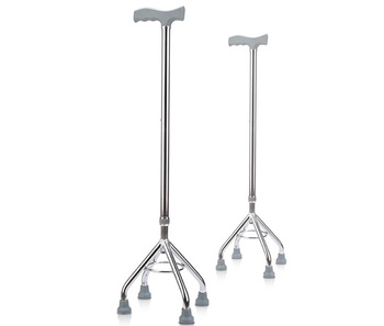 Safety non-slip Crutch Four feet walking stick Old Man walking aid Scalable Regulation Aluminum Alloy Light Walker Elderly Cane