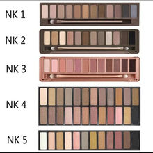 Naked 12color Professional Makeup Eyeshadow Naked Palette 1 2 3 4 5 NK Cosmetic Makeup Brush Smoky Eye Shadow Case Makeup Set