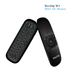 Original [WeChip] W1 MINI Air Mouse Wireless Keyboard 2.4G Mention Sensing Fly Air Mouse For Android TV Box/PC/TV