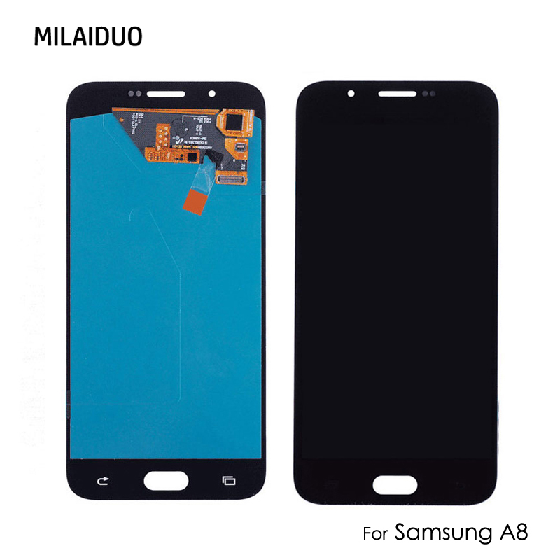 AMOLED/TFT LCD For <font><b>Samsung</b></font> Galaxy A8 <font><b>A8000</b></font> LCD Display Touch Screen Digitizer Assembly Replacement Black White Gold image