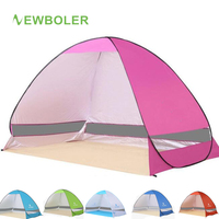 2019 New Ultralight Beach Tent Fishing Quick Automatic UV Protection Sun Awning Shelter Umbrella Mat Breathable Waterproof Tent