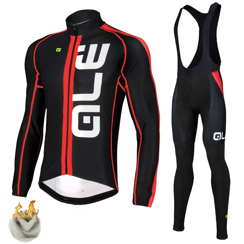 ALE Cycling Set Winter Thermal Fleece Long Sleeves Cycling Jerseys Ropa Maillot Ciclismo Bicycle MTB Bike Cycling Clothing leobaiky 2018 brand cycling suit jerseys newest pro fabric wear long set bike clothing pants mtb bike maillot ropa cycling set