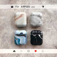 OUTMIX agate Marble hard case for Apple Airpods case protective cover Bluetooth Wireless Earphone Case Charging Box case bags