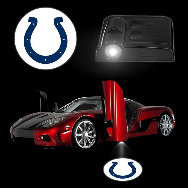 novelty car logo light colts wireless car door stick led lamp aaa battery laser lights
