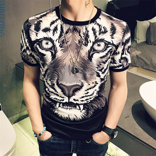 Brand New Floral Mens T-Shirt Slim Fit 2017 Summer Short Sleeve T Shirt Men Round Collar Plus Size Casual Tee Shirt Homme