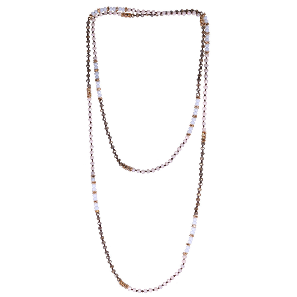 C.QUAN CHI Necklace Jewelry Bohemian Crystal Beaded Chain