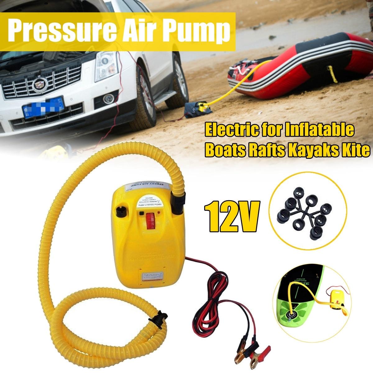Haute pression DC 12 V pompe à air électrique pour bateau gonflable canot radeau sup planche de surf stand up paddle