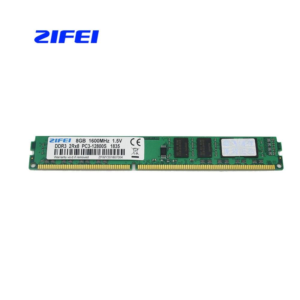 ZIFEI DDR3 8GB 4GB 2GB 1600 1333 1066 MHz 1 5V DIMM Desktop Memory RAM Fully
