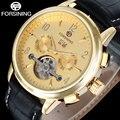 FORSINING brand men fashion sport mechanical tourbillion watches luxury men's automatic skeleton gold watches relogio masculino