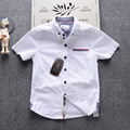INMUSION 5-13y camisa grande do menino novas crianças camisa do menino estilo Europeu 2017 verão nova moda crianças dos miúdos camisas tops