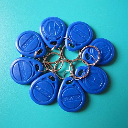 RFID EM4100 Bleu Télécommandes 125 khz Porte-clés EM Marine Porte-clés de contrôle d'accès Étanche lecteur de carte-clé seulement (pack de 50)