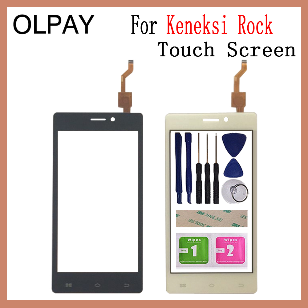 OLPAY 4.5'' New For Keneksi Rock Touch Screen Glass Digitizer Panel Lens Sensor Glass Free Adhesive And Wipes