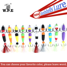 Buy W.P.E Size L 4 pcs/lot Fishing Lure Swim bait Artificial Bait Wobbler Bass Lure Jig Soft Bait Minnow Floats with a free 10g Lead directly from merchant!