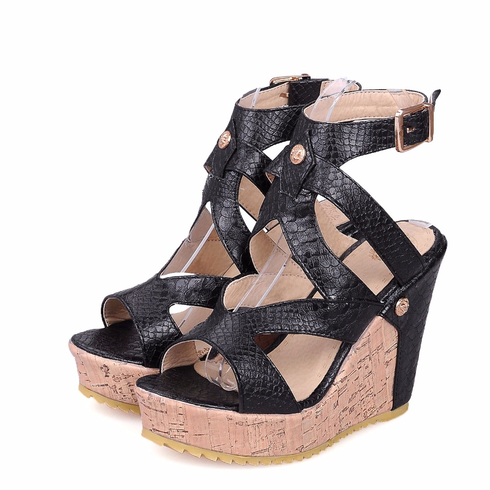 985b88247d XiuNingYan Women's Cute Strappy Open Toe Low Wedge Platform Sandal Shoes  Size 5 10.5 NEW S3271A-in Women's Sandals from Shoes on Aliexpress.com |  Alibaba ...