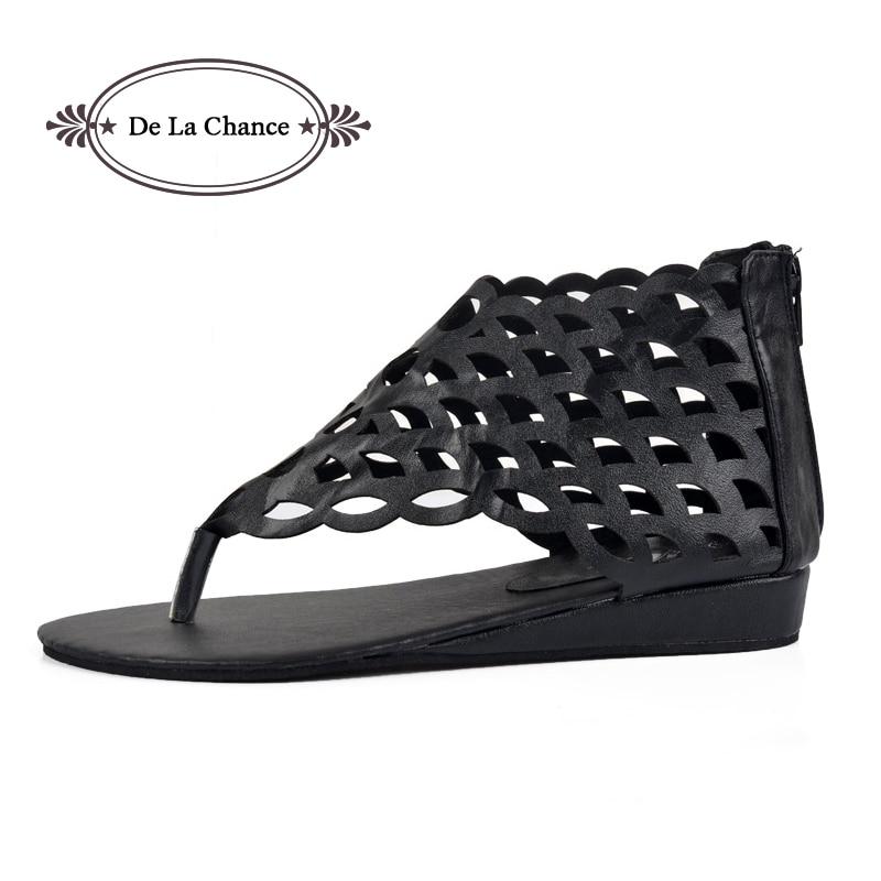 2017 Moda Zapatos de Mujer Gladiator Pisos de punta abierta Sandalias - Zapatos de mujer
