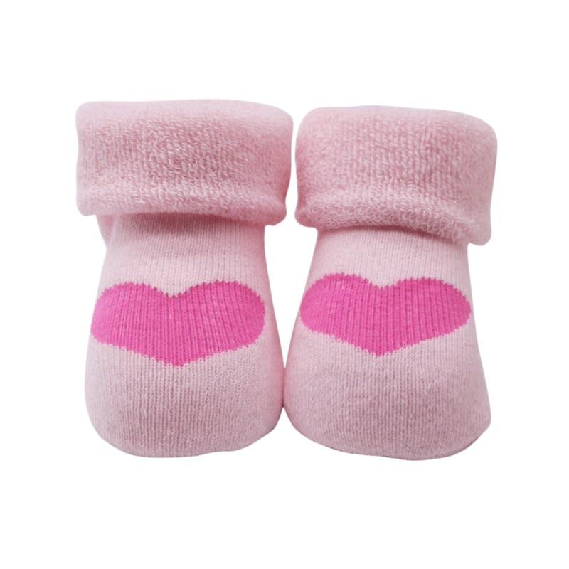 Algodão meias do bebê skid para bebê recém-nascido meninas meias dos desenhos animados forma do coração meias para meninos meninas bonito de alta qualidade 1 par