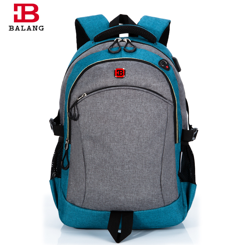 BALANG Brand Designer Unisex Waterproof Sports Backpack with Mesh Water Bottle Pockets for 15.6Inch Laptop Daily School Backpack mesh panel iridescence backpack