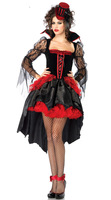 Sexy Costume Halloween Robe Costume Sexy Sorcière Vampire Costume Femmes Mascarade Halloween Party Cosplay Costume