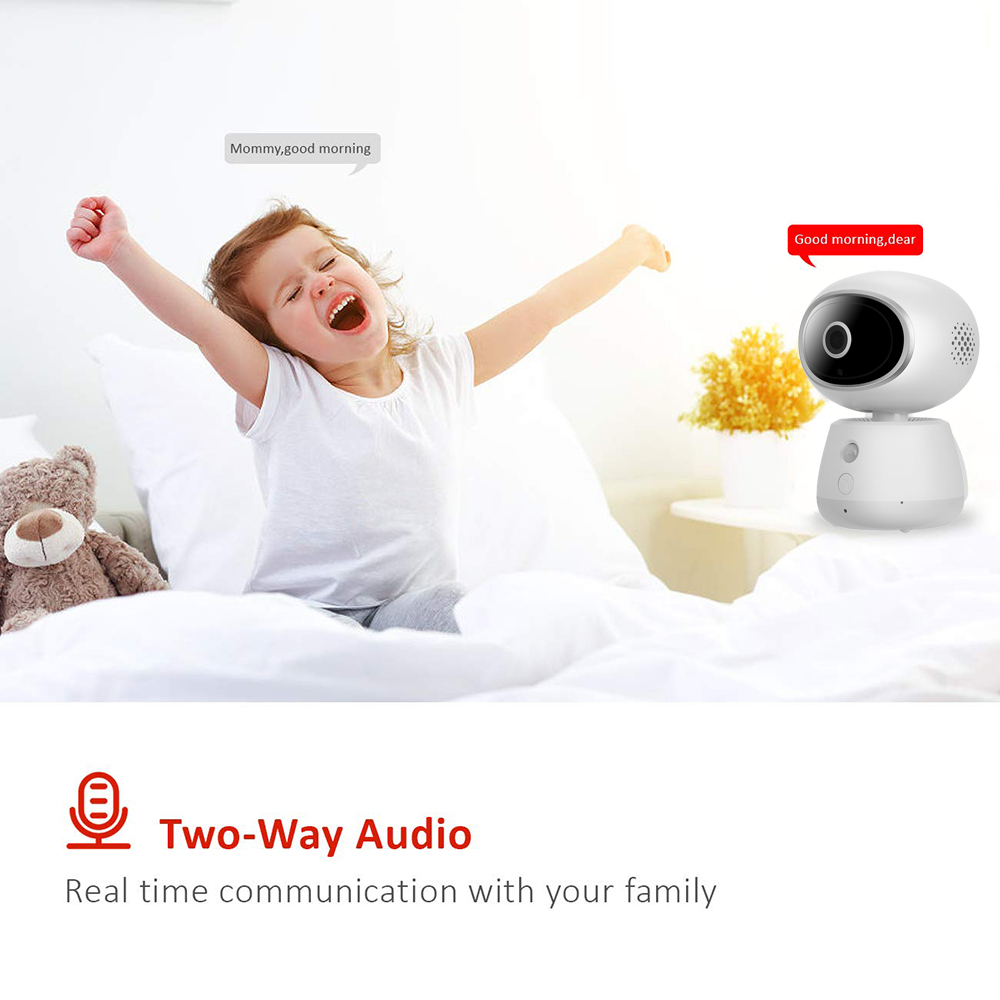 Mini moniteur vidéo sans fil bébé 3MP HD Vision nocturne Wi-Fi caméra de sécurité à domicile Surveillance de téléphone bébé caméra Wifi 2 voies Audio - 3