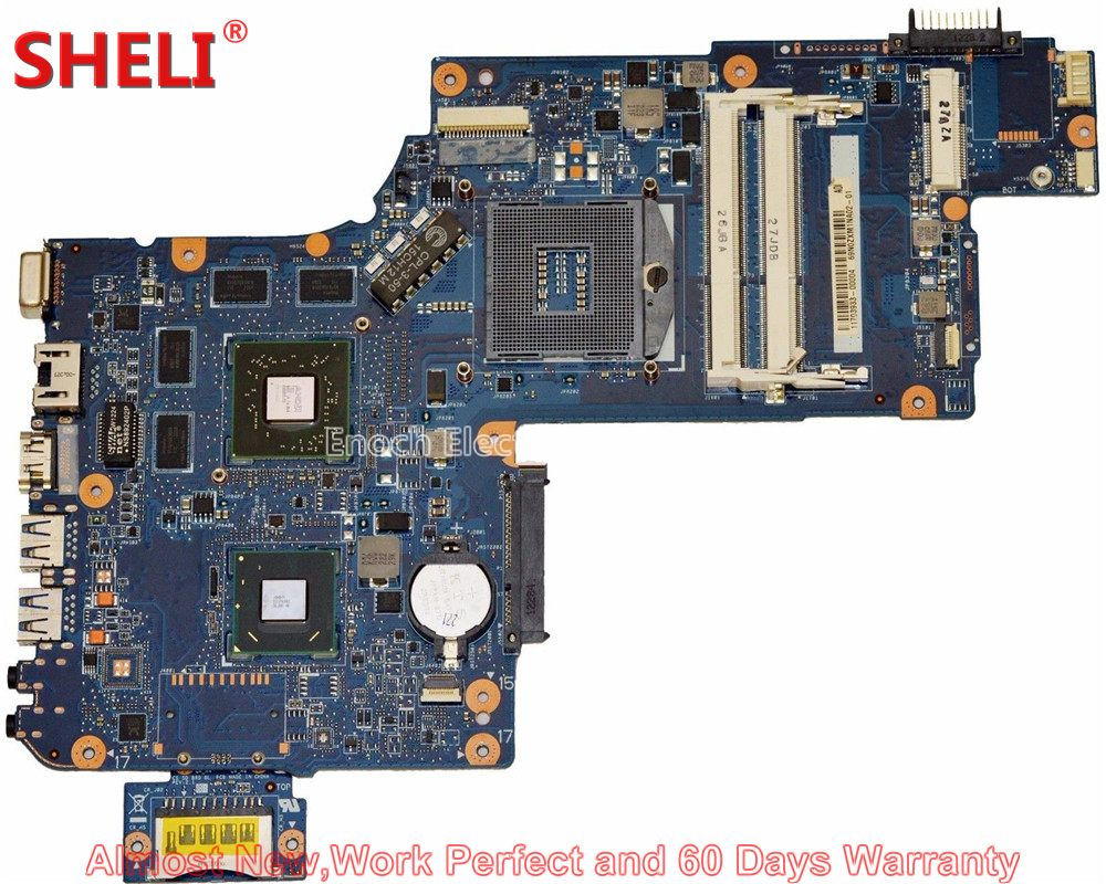 SHELI NEW H000043490 Laptop Motherboard For Toshiba Satellite C870 C875 L870 L875 SLJ8E HM76 HD 7670M 216-0833000 System Board new h000041510 laptop motherboard for toshiba satellite c870 l870 17 3 7610m hd4000 ddr