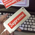 16pcs/set Fashion Supreme Skateboard Guitar Sticker Size 9*2.5cm Waterproof and Oilproof Phone Glass Backpack Red Sticker Toy