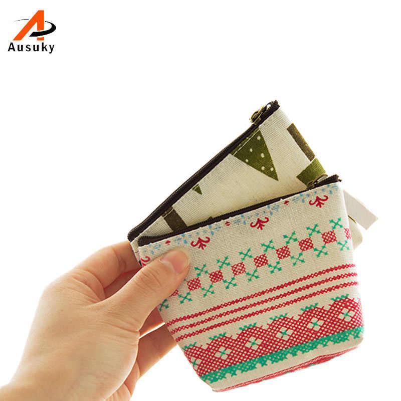 Kawaii Animal Pequeno Mini Canvas Coin Purse & Wallet Caso Titular Maquiagem Storage Bag Mulheres Bolsa Crianças Moeda Bolsa com zíper 45
