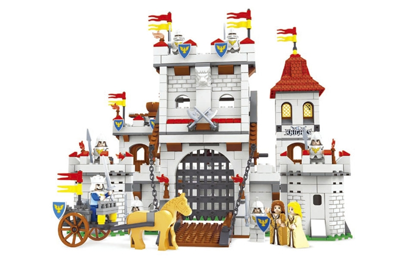 Toy Castle Show : Ausini building block set compatible with lego knights