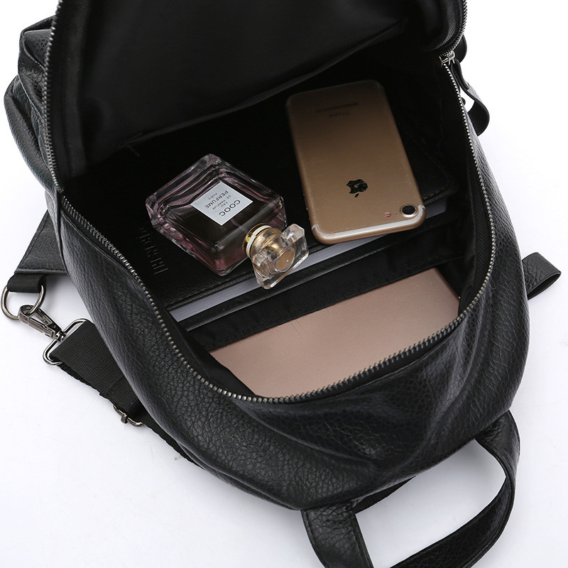 ATTRA-YO-Backpack-Women-Backpack-Simple-Fashion-Wild-Casual-Backpack-PU-Material-Solid-Color-High-Capacity (4)