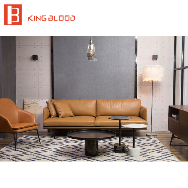 Modern 3 Seater Leather Couch Sofa Set For Living Room-in Living ...