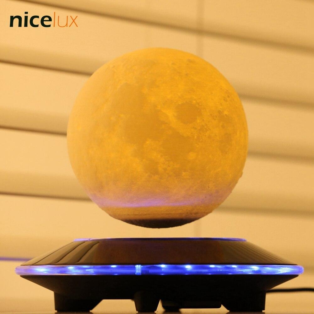 3D принт Левитация луна лампа, магнитная светодио дный плавающий светодиодный ночник, левитирующая игрушка подарок беспроводной питание, тв...