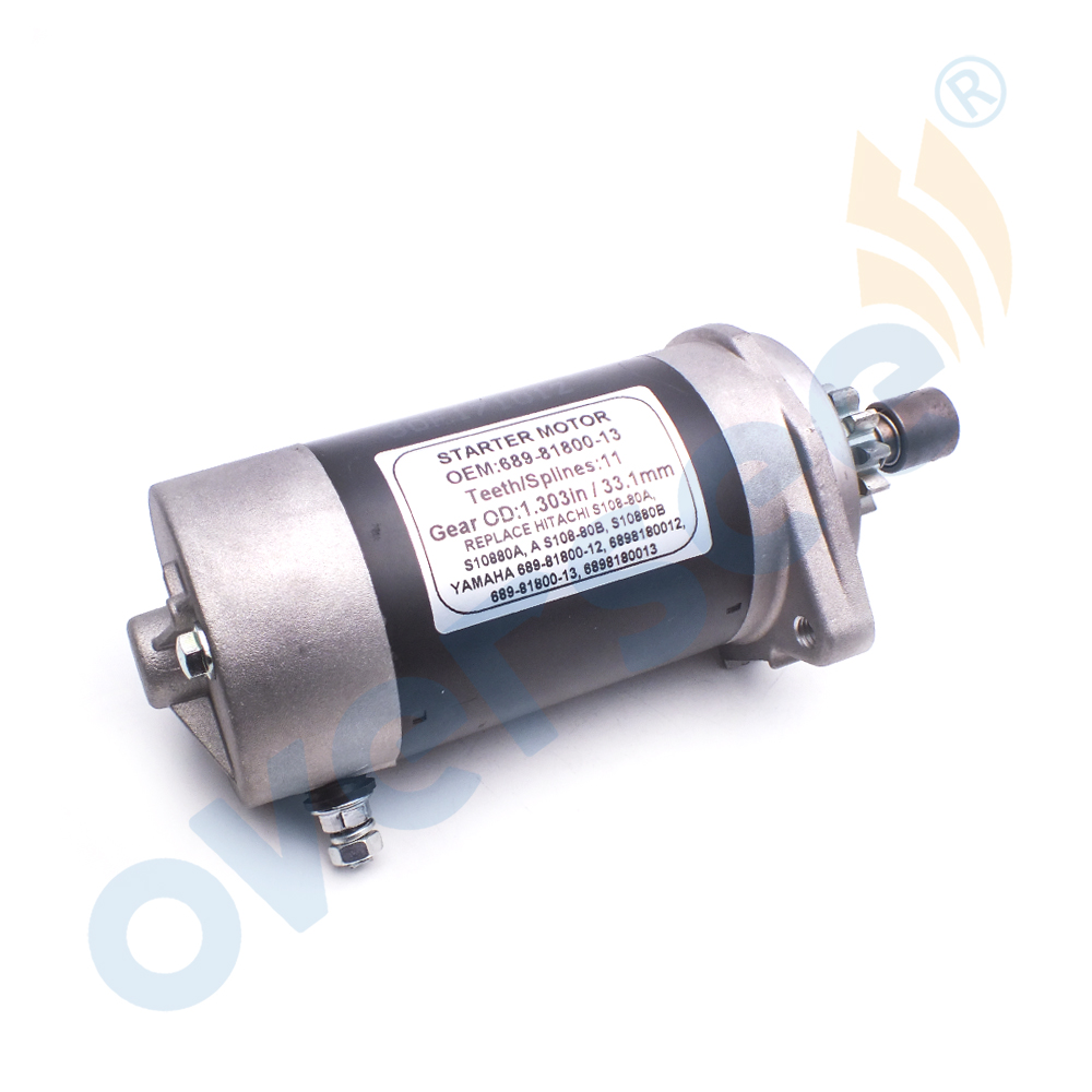 689-81800 Outboard Motor Starter For YAMAHA Outboard 25HP 30HP 689-81800-13 Or 689-81800-12 61T 61N 695 69S 61N-81800