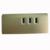 Alumínio USB 3.0 RJ45 10/100/1000 Mbps Gigabit Ethernet LAN Adaptador de Rede LAN com 3 Portas USB3.0 HUB para Laptops PC Desktop