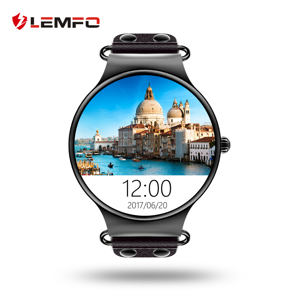 LEMFO LEF1 Bluetooth Smartwatch Android 5 1 MTK6580 With SIM Card Slot Support GPS WIFI Heart