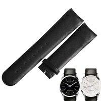 WENTULA watchbands for ck K22411/K22461/K22471/K2A271 calf leather band cow leather Genuine Leather leather strap watch band