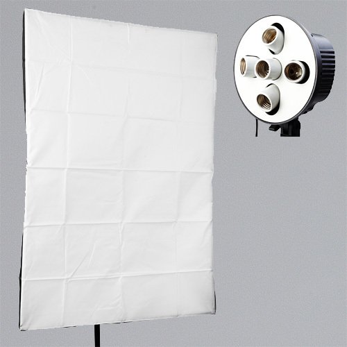 Photography Studio Soft Box Reflector Kits 5 Lamp Holder with 60x90cm Softbox Photo Studio Accessories Fotografia 50x130cm softbox reflector with bowens mount for studio flash photo studio soft box photography accesorios fotografia light box