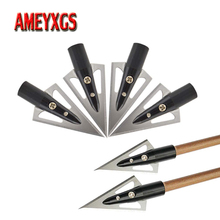 6/12pcs Archery 2 Blades Arrowhead 100grain Sharp Broadheads Fit 8mm Arrow Shaft For Bow And Hunting Shooting Accessories