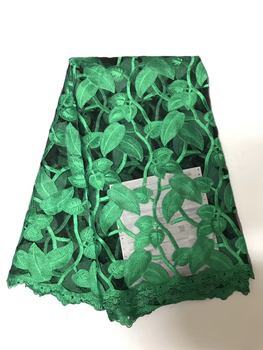 Green 2018 Latest French Nigerian Laces Fabrics High Quality Tulle African Laces Fabric Wedding African French Tulle Lace  LR923