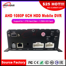 Factory Outlet AHD 1080P / AHD 960P Megapixel Local Video 6 Channel Monitor Mobile DVR Truck / Small Car / Farm Locomotive(China)