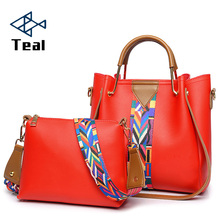 2018 Womens Handbags 2 Pcs/set Composite Bags Handbag Women Shoulder Female Totes Large Capacity Crossbody