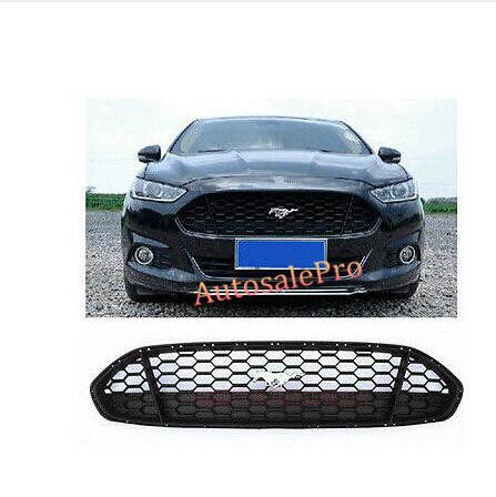 Racing Mustung Style Black Front Grille Grill Bezel Honeycomb Mesh Cover for Ford Fusion Mondeo 2013 2014 2015 for ford fusion mondeo 2013 2014 2015 control glass water panel protective film stickers carbon cover