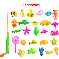 40pcs Lot Magnetic Fishing Toy Set Outdoor Fun Sports Fish Toy Gift For Baby Funny Gadgets