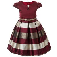 3 10 Year Children Clothing Baby Clothes Kids Girl Stripe Sleeveless Big Bow Tutu Princess Dress