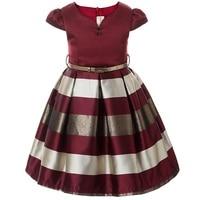 3 10 Year Children Clothing Baby Clothes Kids Girl Stripe Sleeveless Big Bow Tutu Princess Dress