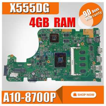with A10-8700P 4GB RAM X555DG Laptop motherboard for ASUS  X555Y X555YI X555D X555DG original X555DG mainboard TETS 100% OK - DISCOUNT ITEM  0% OFF All Category